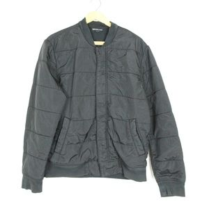James Perse Black Quilted Bomber Jacket Mens 2 M